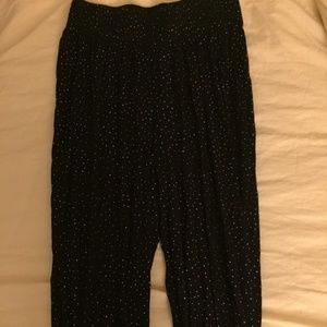H&M Black Joggers with White Dots